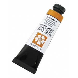 Daniel Smith Extra Fine™ Watercolor 15ml French Ochre: Yellow, Tube, 15 ml, Watercolor, (model 284600134), price per tube