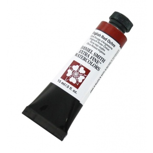 Daniel Smith Extra Fine™ Watercolor 15ml English Red Ochre: Red/Pink, Tube, 15 ml, Watercolor, (model 284600136), price per tube