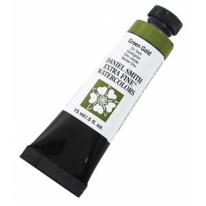Daniel Smith Extra Fine™ Watercolor 15ml Green Gold; Color: Green; Format: Tube; Size: 15 ml; Type: Watercolor; (model 284600139), price per tube
