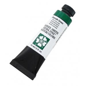 Daniel Smith Extra Fine™ Watercolor 15ml Cascade Green: Green, Tube, 15 ml, Watercolor, (model 284600142), price per tube