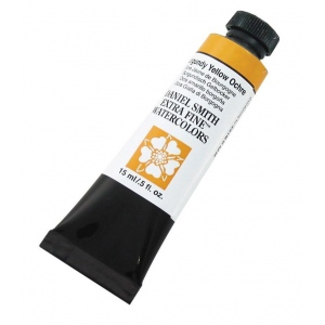Daniel Smith Extra Fine™ Watercolor 15ml Burgundy Yellow Ochre; Color: Yellow; Format: Tube; Size: 15 ml; Type: Watercolor; (model 284600147), price per tube