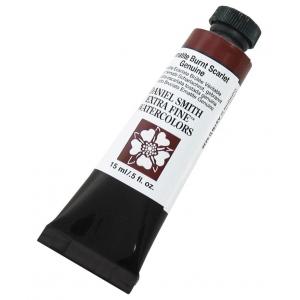 Daniel Smith Extra Fine™ Watercolor 15ml Hematite Burnt Scarlet Genuine: Brown, Tube, 15 ml, Watercolor, (model 284600158), price per tube