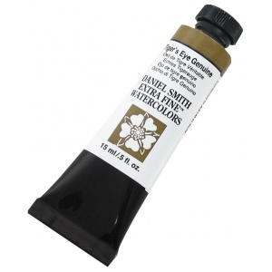 Daniel Smith Extra Fine™ Watercolor 15ml Tiger's Eye Genuine; Color: Yellow; Format: Tube; Size: 15 ml; Type: Watercolor; (model 284600161), price per tube