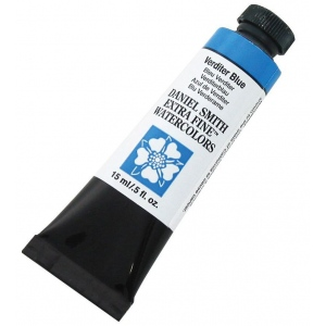 Daniel Smith Extra Fine™ Watercolor 15ml Verditer Blue: Blue, Tube, 15 ml, Watercolor, (model 284600173), price per tube