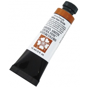 Daniel Smith Extra Fine™ Watercolor 15ml Enviro-Friendly Yellow Iron Oxide: Yellow, Tube, 15 ml, Watercolor, (model 284600176), price per tube