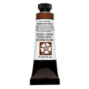 Daniel Smith Extra Fine™ Watercolor 15ml Enviro-Friendy Brown Iron Oxide; Color: Brown; Format: Tube; Size: 15 ml; Type: Watercolor; (model 284600178), price per tube