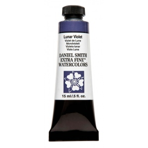 Daniel Smith Extra Fine™ Watercolor 15ml Lunar Violet; Color: Purple; Format: Tube; Size: 15 ml; Type: Watercolor; (model 284600182), price per tube