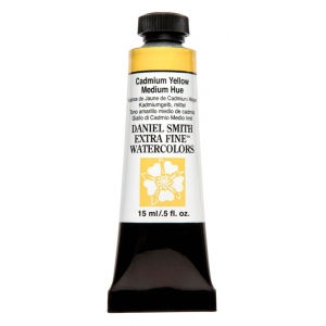 Daniel Smith Extra Fine™ Watercolor 15ml Cadmium Yellow Medium Hue; Color: Yellow; Format: Tube; Size: 15 ml; Type: Watercolor; (model 284600184), price per tube