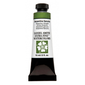 Daniel Smith Extra Fine™ Watercolor 15ml Serpentine Genuine; Color: Green; Format: Tube; Size: 15 ml; Type: Watercolor; (model 284600190), price per tube