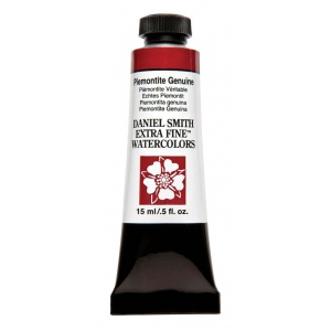 Daniel Smith Extra Fine™ Watercolor 15ml Piemontite Genuine; Color: Red/Pink; Format: Tube; Size: 15 ml; Type: Watercolor; (model 284600191), price per tube