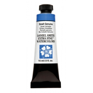 Daniel Smith Extra Fine™ Watercolor 15ml Smalt Genuine; Color: Blue; Format: Tube; Size: 15 ml; Type: Watercolor; (model 284600202), price per tube