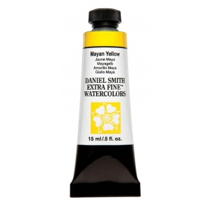 Daniel Smith Extra Fine™ Watercolor 15ml Mayan Yellow; Color: Yellow; Format: Tube; Size: 15 ml; Type: Watercolor; (model 284600212), price per tube