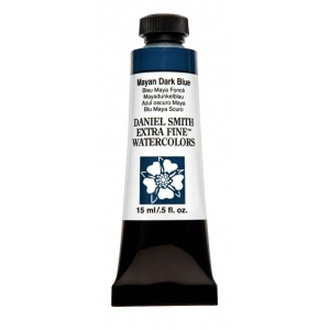 Daniel Smith Extra Fine™ Watercolor 15ml Mayan Dark Blue: Blue, Tube, 15 ml, Watercolor, (model 284600213), price per tube