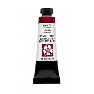 Daniel Smith Extra Fine™ Watercolor 15ml Mayan Red; Color: Red/Pink; Format: Tube; Size: 15 ml; Type: Watercolor; (model 284600217), price per tube