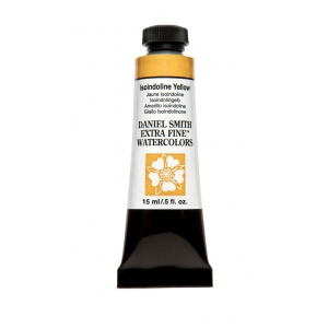 Daniel Smith Extra Fine™ Watercolor 15ml Isoindoline Yellow; Color: Yellow; Format: Tube; Size: 15 ml; Type: Watercolor; (model 284600218), price per tube