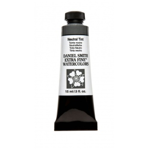Daniel Smith Extra Fine™ Watercolor 15ml Neutral Tint; Color: Black/Gray; Format: Tube; Size: 15 ml; Type: Watercolor; (model 284600229), price per tube