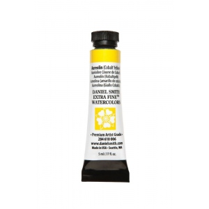 Daniel Smith Extra Fine™ Watercolor 5ml Aureolin Cobalt Yellow; Color: Yellow; Format: Tube; Size: 5 ml; Type: Watercolor; (model 284610006), price per tube