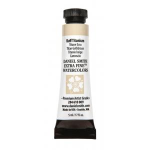 Daniel Smith Extra Fine™ Watercolor 5ml Buff Titanium; Color: Brown; Format: Tube; Size: 5 ml; Type: Watercolor; (model 284610009), price per tube