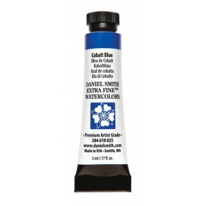 Daniel Smith Extra Fine™ Watercolor 5ml Cobalt Blue; Color: Blue; Format: Tube; Size: 5 ml; Type: Watercolor; (model 284610025), price per tube