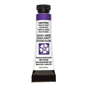 Daniel Smith Extra Fine™ Watercolor 5ml Cobalt Violet; Color: Purple; Format: Tube; Size: 5 ml; Type: Watercolor; (model 284610030), price per tube
