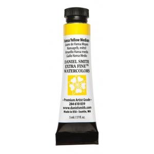Daniel Smith Extra Fine™ Watercolor 5ml Hansa Yellow Medium: Yellow, Tube, 5 ml, Watercolor, (model 284610039), price per tube