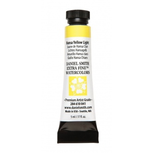 Daniel Smith Extra Fine™ Watercolor 5ml Hansa Yellow Light; Color: Yellow; Format: Tube; Size: 5 ml; Type: Watercolor; (model 284610041), price per tube