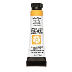 Daniel Smith Extra Fine™ Watercolor 5ml Indian Yellow; Color: Yellow; Format: Tube; Size: 5 ml; Type: Watercolor; (model 284610045), price per tube