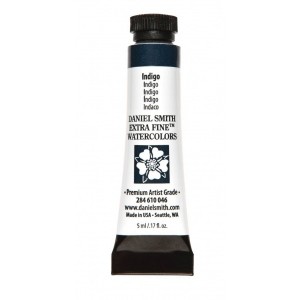 Daniel Smith Extra Fine™ Watercolor 5ml Indigo; Color: Blue; Format: Tube; Size: 5 ml; Type: Watercolor; (model 284610046), price per tube