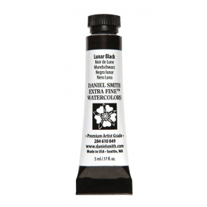 Daniel Smith Extra Fine™ Watercolor 5ml Lunar Black: Black/Gray, Tube, 5 ml, Watercolor, (model 284610049), price per tube