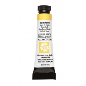 Daniel Smith Extra Fine™ Watercolor 5ml Naples Yellow; Color: Yellow; Format: Tube; Size: 5 ml; Type: Watercolor; (model 284610058), price per tube