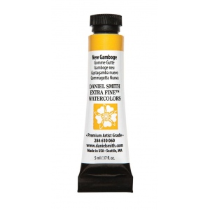 Daniel Smith Extra Fine™ Watercolor 5ml New Gamboge; Color: Yellow; Format: Tube; Size: 5 ml; Type: Watercolor; (model 284610060), price per tube