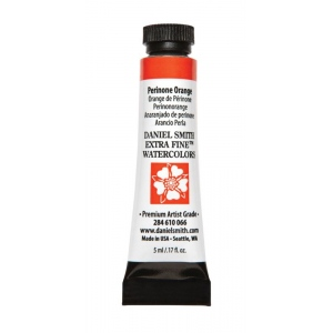 Daniel Smith Extra Fine™ Watercolor 5ml Perinone Orange: Orange, Tube, 5 ml, Watercolor, (model 284610066), price per tube