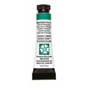 Daniel Smith Extra Fine™ Watercolor 5ml Phthalo Green YS; Color: Green; Format: Tube; Size: 5 ml; Type: Watercolor; (model 284610079), price per tube