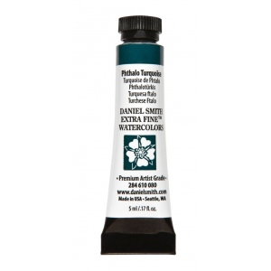 Daniel Smith Extra Fine™ Watercolor 5ml Phthalo Turquoise; Color: Blue; Format: Tube; Size: 5 ml; Type: Watercolor; (model 284610080), price per tube