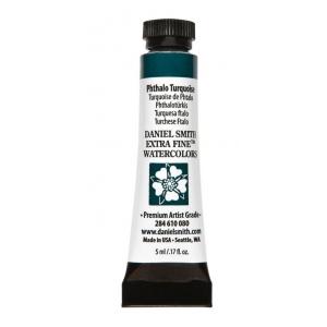 Daniel Smith Extra Fine™ Watercolor 5ml Phthalo Turquoise: Blue, Tube, 5 ml, Watercolor, (model 284610080), price per tube