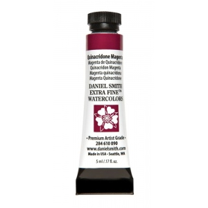 Daniel Smith Extra Fine™ Watercolor 5ml Quinacridone Magenta; Color: Red/Pink; Format: Tube; Size: 5 ml; Type: Watercolor; (model 284610090), price per tube