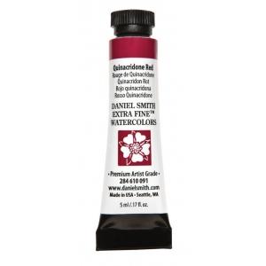 Daniel Smith Extra Fine™ Watercolor 5ml Quinacridone Red: Red/Pink, Tube, 5 ml, Watercolor, (model 284610091), price per tube