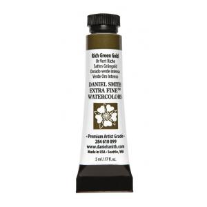 Daniel Smith Extra Fine™ Watercolor 5ml Rich Green Gold; Color: Green; Format: Tube; Size: 5 ml; Type: Watercolor; (model 284610099), price per tube