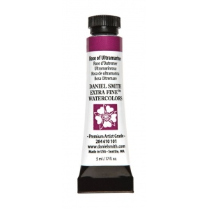 Daniel Smith Extra Fine™ Watercolor 5ml Rose of Ultramarine; Color: Purple; Format: Tube; Size: 5 ml; Type: Watercolor; (model 284610101), price per tube