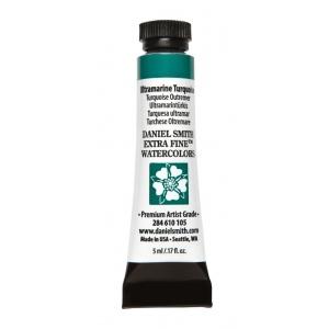 Daniel Smith Extra Fine™ Watercolor 5ml Ultramarine Turquoise; Color: Blue; Format: Tube; Size: 5 ml; Type: Watercolor; (model 284610105), price per tube