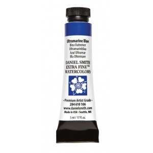 Daniel Smith Extra Fine™ Watercolor 5ml Ultramarine Blue: Blue, Tube, 5 ml, Watercolor, (model 284610106), price per tube