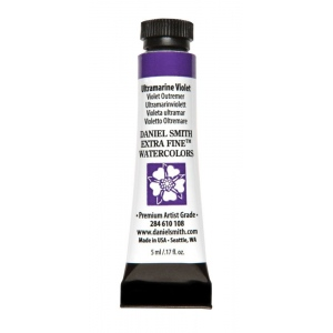 Daniel Smith Extra Fine™ Watercolor 5ml Ultramarine Violet; Color: Purple; Format: Tube; Size: 5 ml; Type: Watercolor; (model 284610108), price per tube