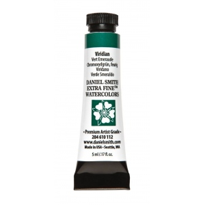 Daniel Smith Extra Fine™ Watercolor 5ml Viridian; Color: Green; Format: Tube; Size: 5 ml; Type: Watercolor; (model 284610112), price per tube