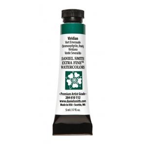Daniel Smith Extra Fine™ Watercolor 5ml Viridian; Color: Green; Format: Tube; Size: 5 ml; Type: Watercolor; (model 284610112), price per tube