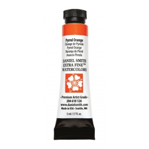 Daniel Smith Extra Fine™ Watercolor 5ml Pyrrol Orange: Orange, Tube, 5 ml, Watercolor, (model 284610126), price per tube