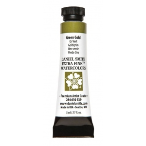 Daniel Smith Extra Fine™ Watercolor 5ml Green Gold; Color: Green; Format: Tube; Size: 5 ml; Type: Watercolor; (model 284610139), price per tube