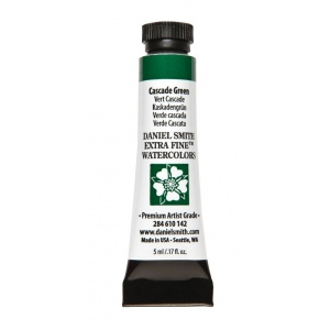 Daniel Smith Extra Fine™ Watercolor 5ml Cascade Green; Color: Green; Format: Tube; Size: 5 ml; Type: Watercolor; (model 284610142), price per tube