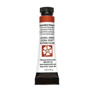 Daniel Smith Extra Fine™ Watercolor 5ml Quinacridone Deep Gold; Color: Yellow; Format: Tube; Size: 5 ml; Type: Watercolor; (model 284610152), price per tube