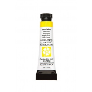Daniel Smith Extra Fine™ Watercolor 5ml Lemon Yellow; Color: Yellow; Format: Tube; Size: 5 ml; Type: Watercolor; (model 284610165), price per tube