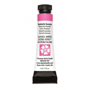 Daniel Smith Extra Fine™ Watercolor 5ml Rhodonite Genuine; Color: Red/Pink; Format: Tube; Size: 5 ml; Type: Watercolor; (model 284610167), price per tube